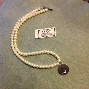 """MSC monogrammed necklace """"L"""""""